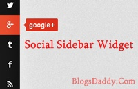 Vertical Social Media Sidebar Widget For Blogger