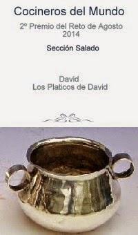 """2º premio categoria salado reto agosto 2014 """"Cocineros del Mundo"""""""