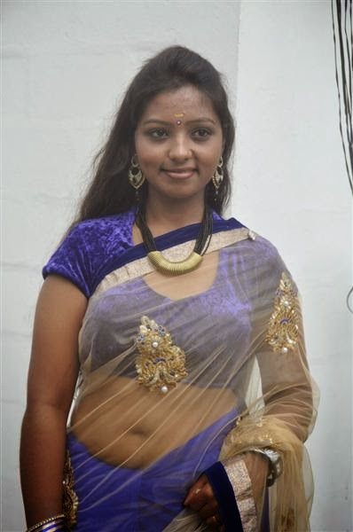 Ashakumari Navel Show in Transparent Saree