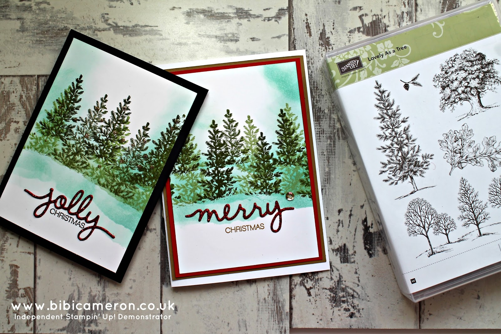 Stampin' Up! Lovely as a tree stamp set and Christmas Greetings ...