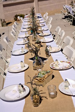 Wedding Decorations Using Burlap