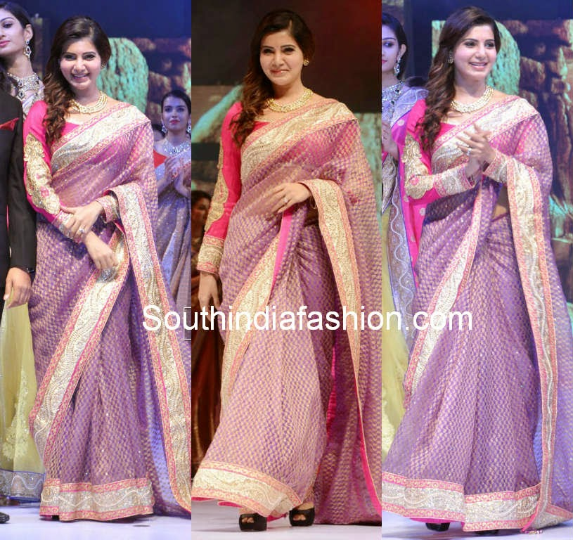samantha prabhu in shilpakala saree