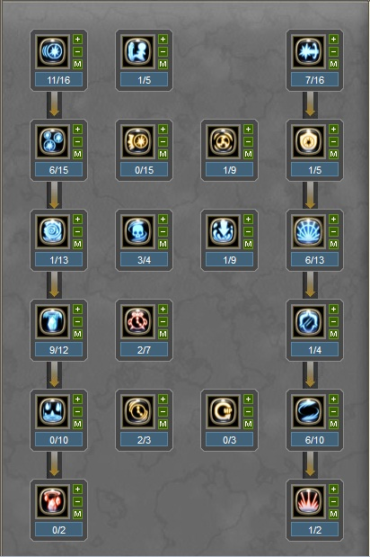 increase damage current level 50 skill build sorceress skill tree