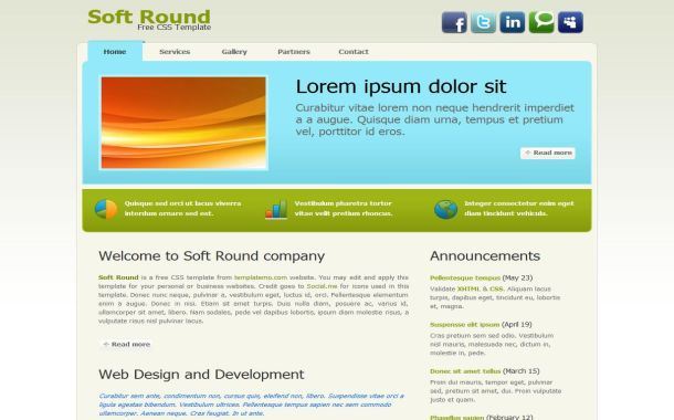 Free css business blue green html website template free web free portfolio blue green css website template wajeb Images