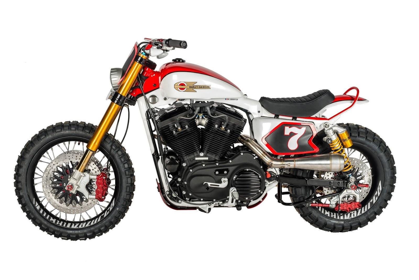 Motogp Harley Xlzt3 Scrambler By Shaw Speed Custom Motorcycle Wiring Harness