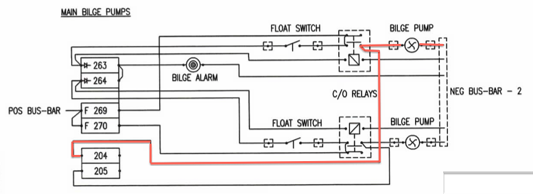 S  V Lux  L40 Bilge Pump Wiring And Indicator Enhancement