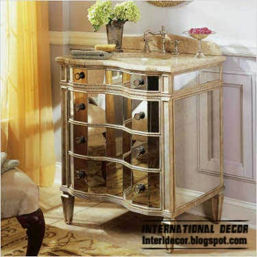 mirrored furniture in vintage style