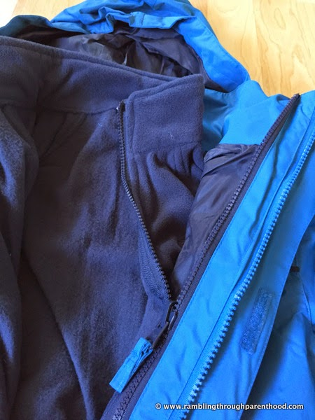 Secure all-over fastenings to keep the layers together -Sulivan Boy's 3 in 1 Waterproof Jacket by Trespass
