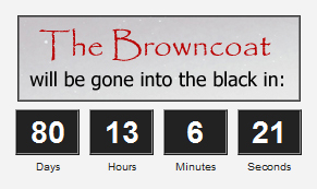 Countdown for the Limited Edition Browncoat as of June 10, 2011