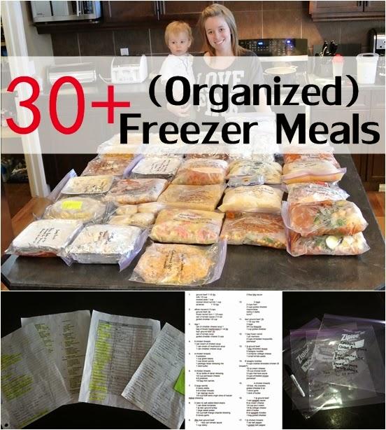 30+ (Organized) Freezer Meals