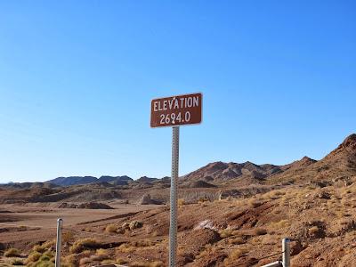 Elevation at Bootleg Canyon Trail Head, 2694.0 feet