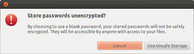 By choosing to use blank password, your stored passwords will not be safely encrypted. They will ne accessible any anyone with access to your files.