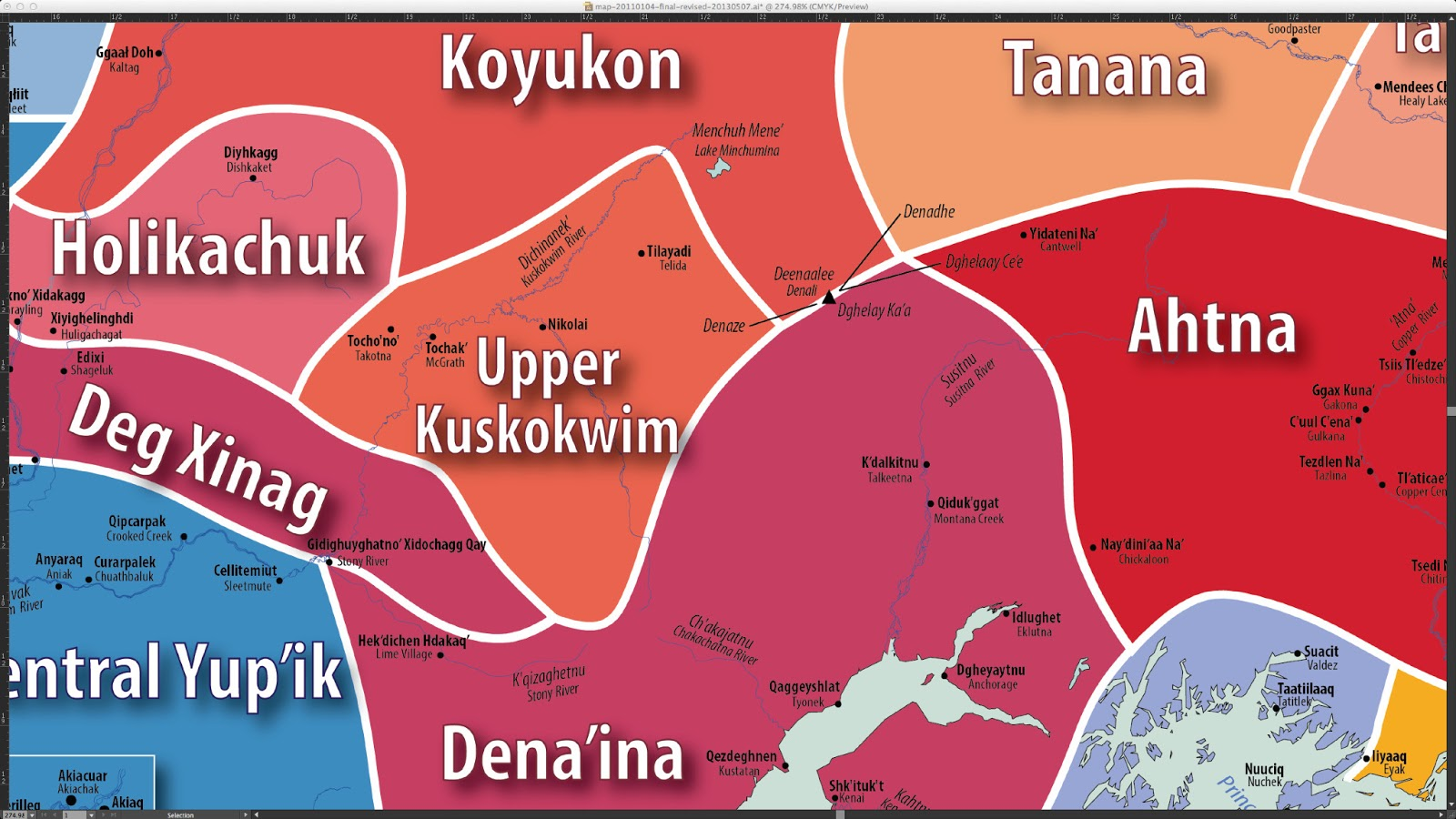 the map should be available later this summer from the alaska native language center