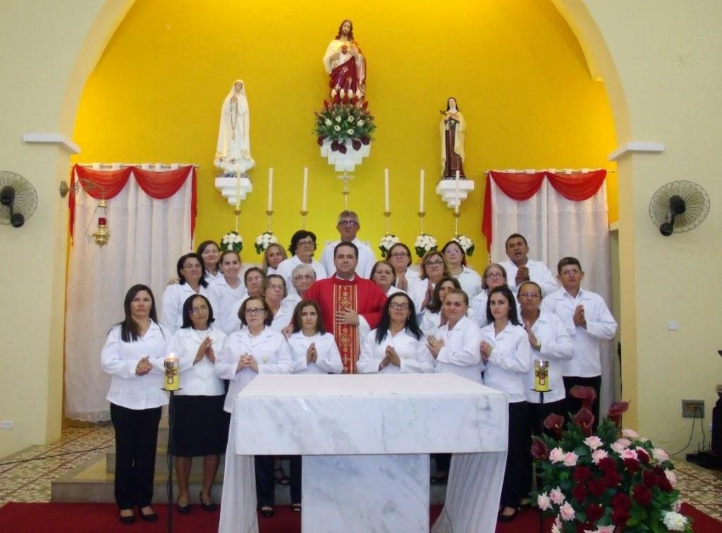 Imagens da 3ª noite de novena em honra ao Sagrado Coração de Jesus