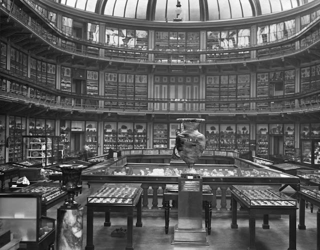 Museum of Practical Geology, Jermyn Street, first floor, showing the galleries and specimen cases