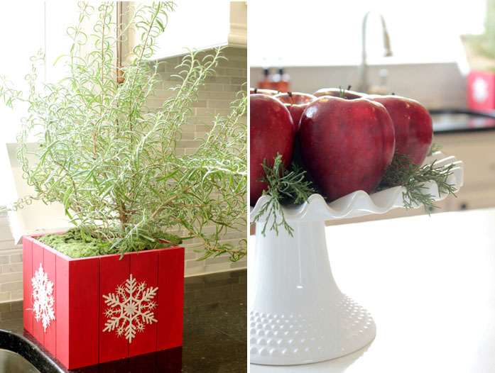 decorating for Christmas with natural elements