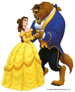 la bella y la bestia enamorados