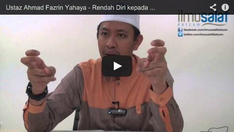 Ustaz Ahmad Fazrin Yahaya – Rendah Diri kepada Ibu Bapa & Penuhi Keinginan Mereka