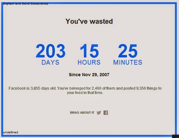 كم أضعت من الوقت على facebook؟.