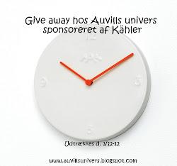 Give away her på siden i samarbejde med Kähler