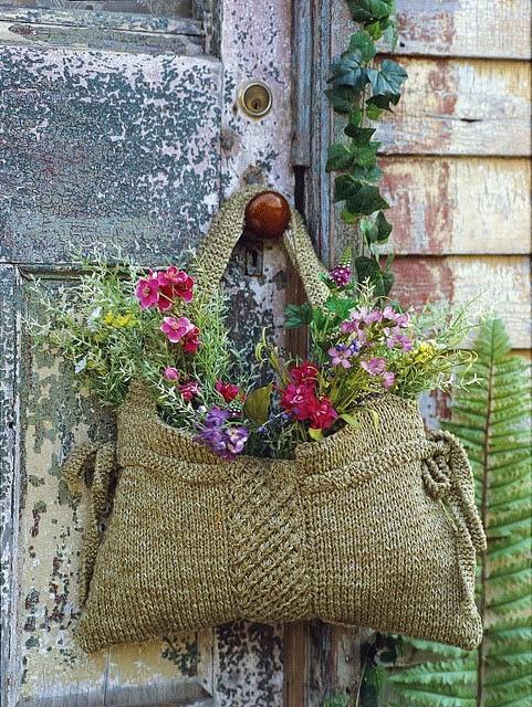 sac pot de fleur