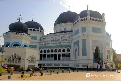 masjid raya kota medan sumatera utara fotografi medan