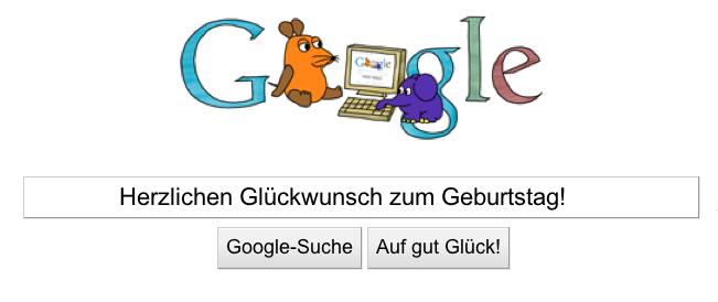 Google Doodle 40 Jahre Sendung mit der Maus