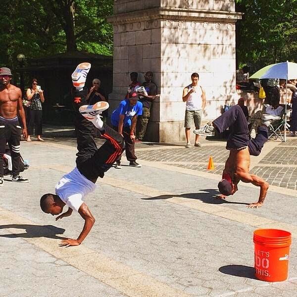 Looking at the world with a different view - Streets of NYC - Central Park  - Break Dancer