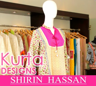 Shirin Hassan Kurta Designs 2014-2015 For Girls