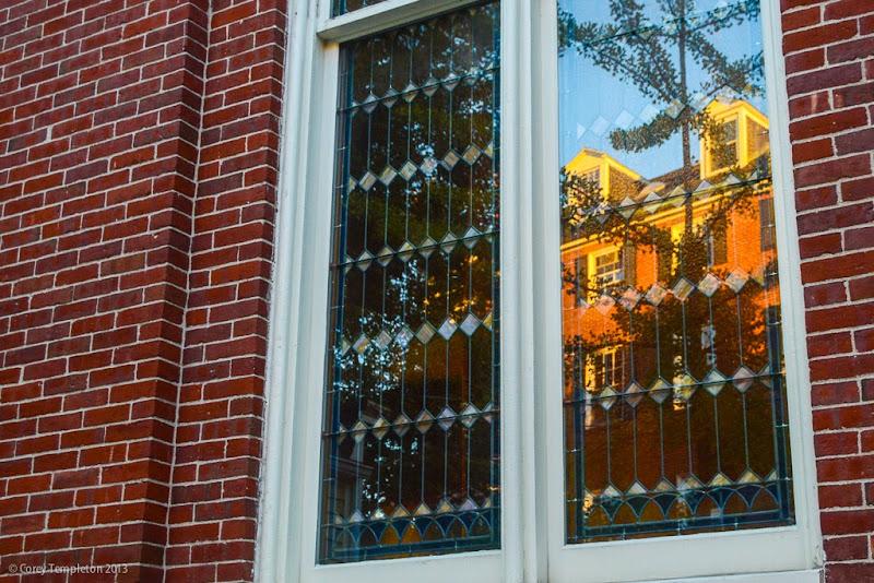 Portland, Maine Reflection on Park Street. Photo by Corey Templeton.