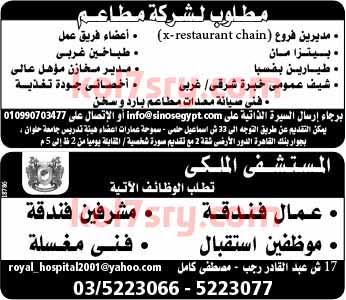 وظائف خالية اليوم , وظائف خالية فى جريدة الوسيط الاسكندرية اليوم الاثنين 24-8-2015