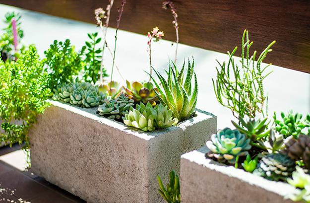 Como hacer macetas con bloques de cementos casas ideas for Bloques cemento para jardin