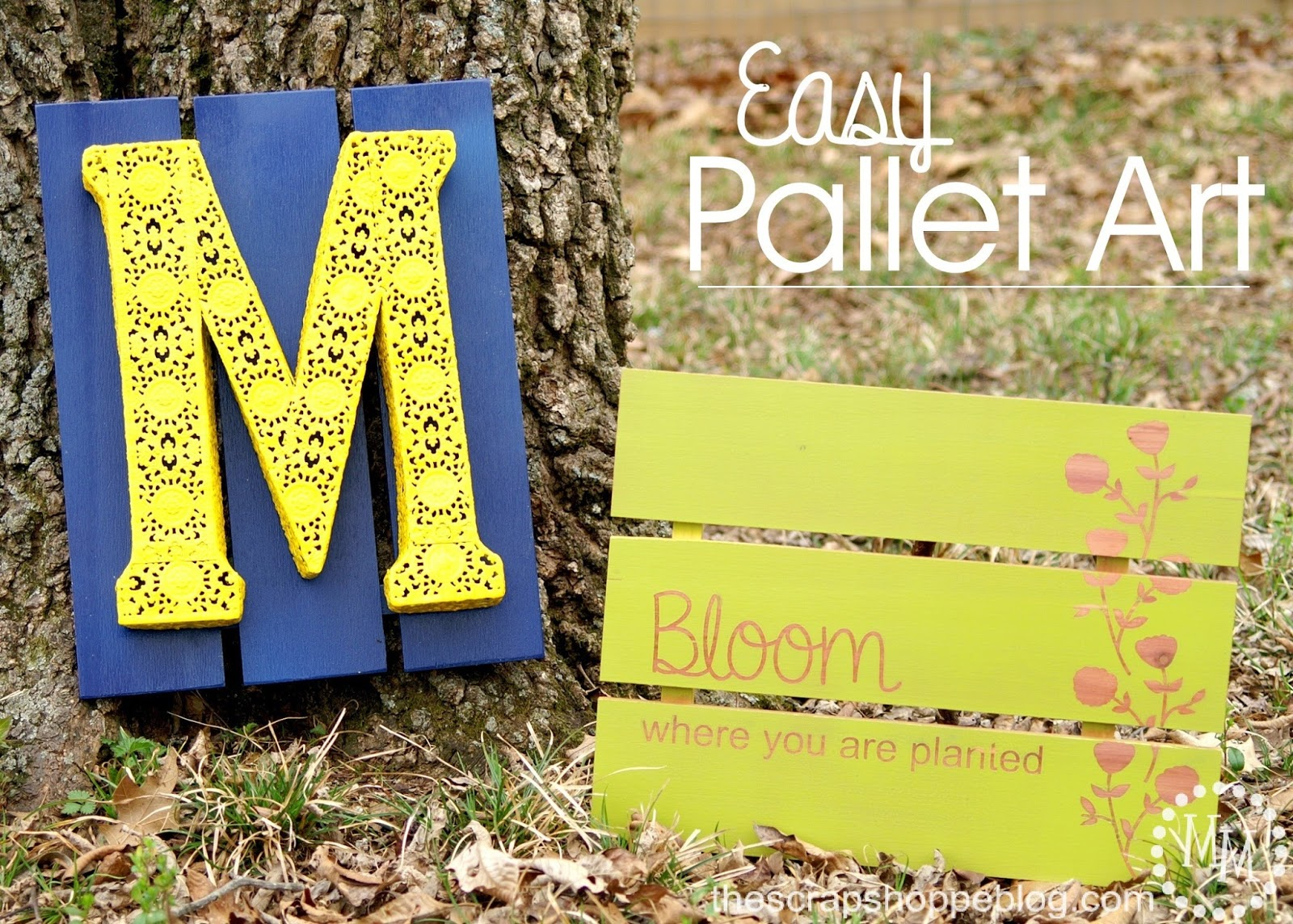 Easy Pallet Art - The Scrap Shoppe