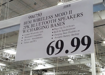 Deal for a pair of Bem Wireless Mojo II Bluetooth Speakers at Costco