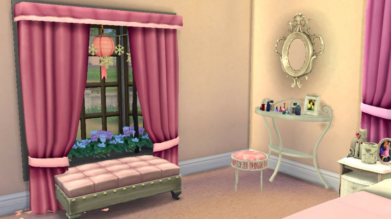 Sims 4 download dreamy teen bedroom for girls sanjana for Bedroom designs sims 4