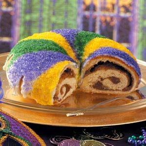 http://www.tasteofhome.com/recipes/mardi-gras-king-cake