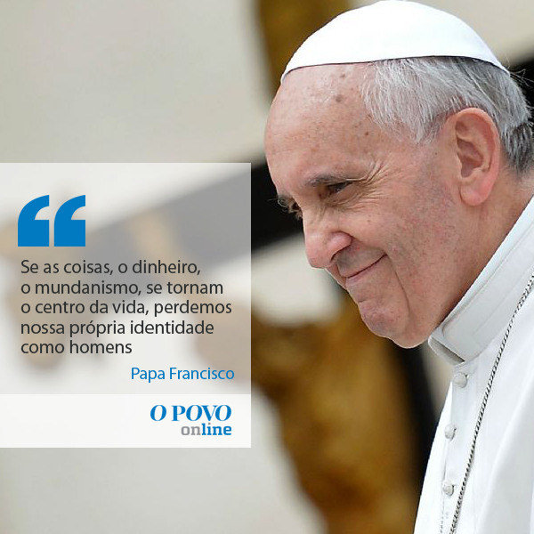Resultado de imagem para papa francisco sobre a riqueza