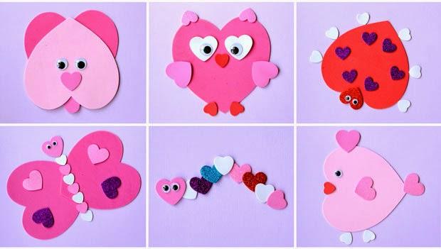 Diy Galeria Como Fazer Animais De Corações De Eva
