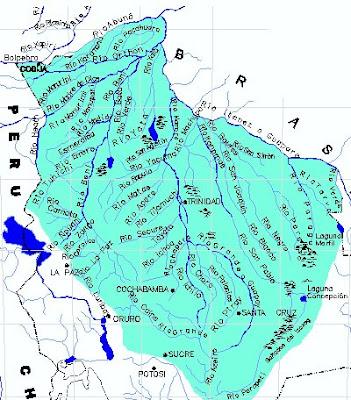 Mapa Hidrográfico de Bolivia
