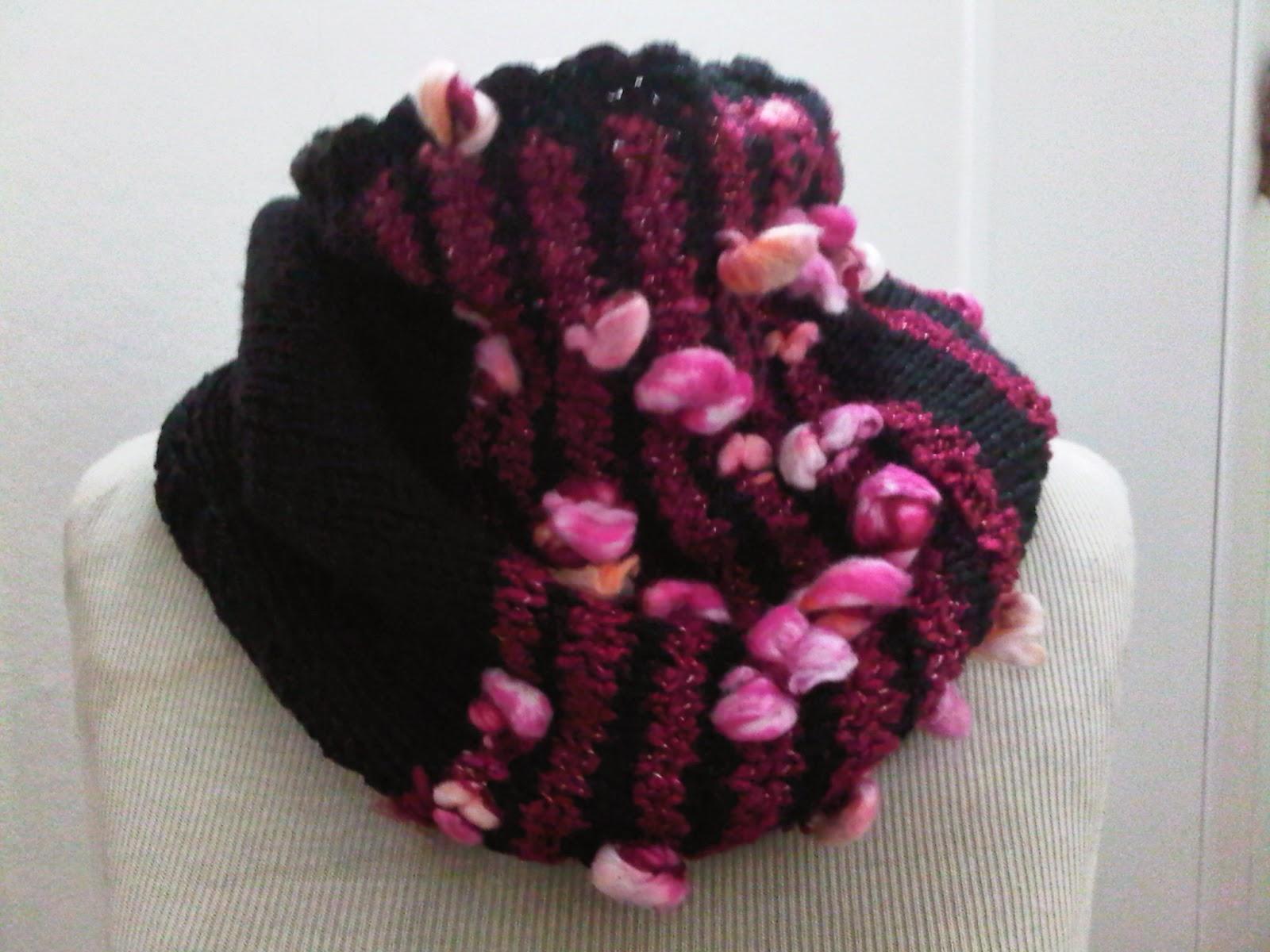 cuellos tejidos a palillo y crochet