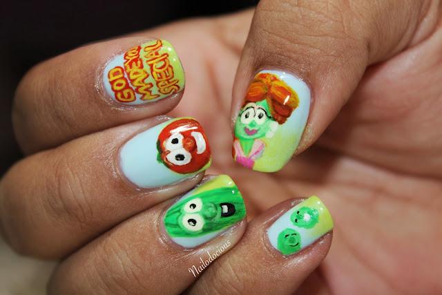 Veggie tale nails, veggietale nails