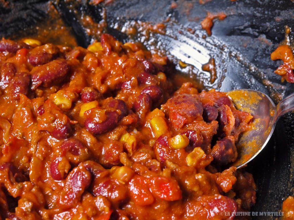 Voir la recette du chili con carne peu piquant (La Cuisine de Myrtille)