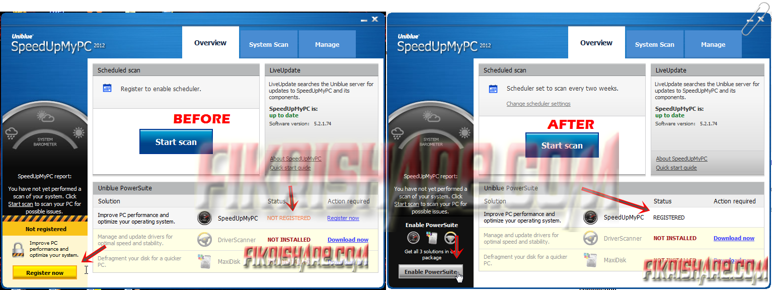 SpeedUpMyPC 2012 5.2.1.74 Full Serial Number / Key Original