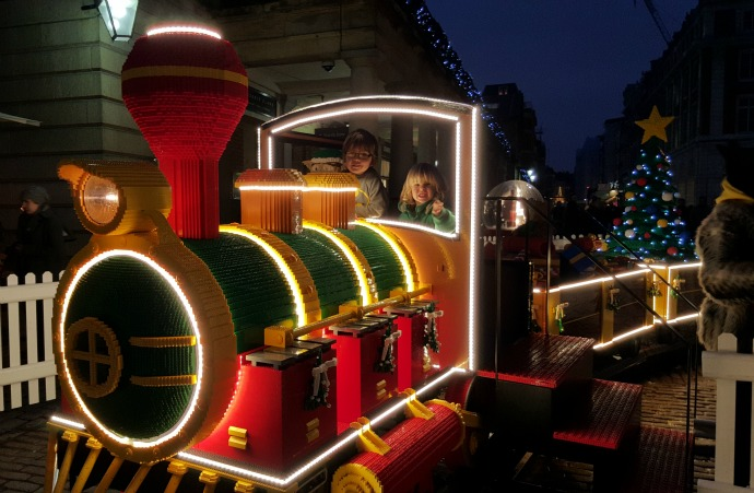 Lego Santa Express, Lego Covent Garden, giant lego creation