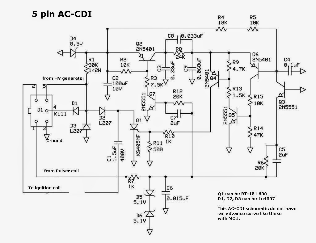 cdi schematic techy at day blogger at noon and a hobbyist at night this is another ac cdi schematic out an mcu that can adjust the advance curve or mapping of the ignition timing the circuit is not that difficult to