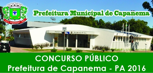 Apostila Concurso Prefeitura de Capanema 2016