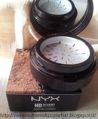 NYX - HD Studio Photogenic Grinding Powder - 04 True Beige - blogger tester kit - inci - ingredienti .- cipria - swatch - recensione - review - prezzo