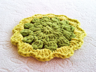 Pistachio Cotton Coasters 5