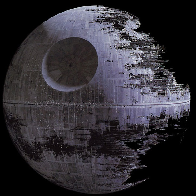 Death Star over San Francisco