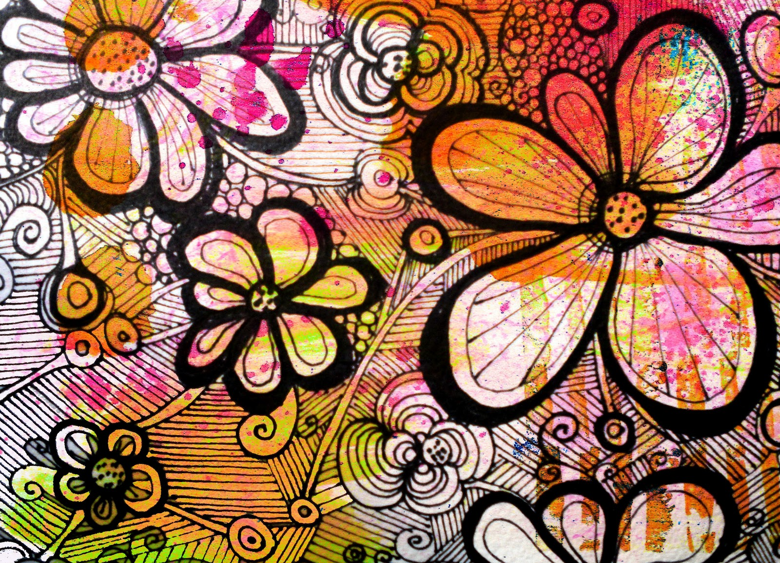 How to draw flower zentangles